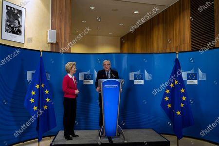 Editorial image of Official handover ceremony of European Commission Presidency, Brussels, Belgium - 03 Dec 2019