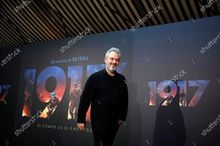 Oscar-winning British film director Sam Mendes arrives at a photocall for the movie '1917' in Madrid, Spain, 03 December 2019. The movie, starring George McKay, Dean-Charles Chapman, Colin Firth and Benedict Cumberbatch, will open in Spanish cinemas on 10 January 2020.