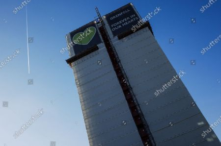Editorial photo of Grenfell Tower, London, UK - 02 Dec 2019