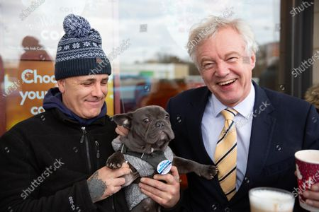Stock Image of MP Candidate David Davis visits Peterborough, Bretton