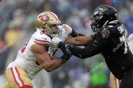 Editorial image of 49ers Ravens Football, Baltimore, USA - 01 Dec 2019