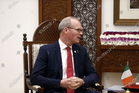 Irish Foreign Minister Simon Coveney meets with Palestinian President in the West Bank City of Ramallah, 03 December 2019.