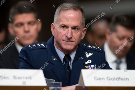 Air Force Chief of Staff David Goldfein testifies during a hearing of the Senate Armed Services Committee about about ongoing reports of substandard housing conditions in Washington, on Capitol Hill
