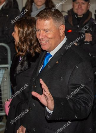 President of Romania Klaus Iohannis arrives in Downing Street