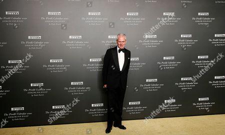 Pirelli CEO Marco Tronchetti Provera poses for photographers at the 2020 Pirelli Calendar event in Verona, Italy