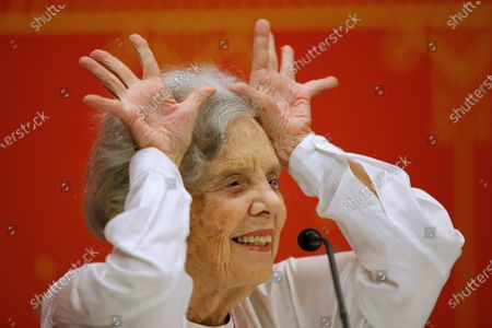 Editorial picture of Poniatowska maintains her support for Lopez Obrador despite his 'difficult' first year, Guadalajara, Mexico - 03 Dec 2019