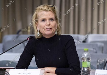 Stock Picture of Deputy Executive Director of UN Women, Asa Regner; during the conference Strengthening Womens Participation in Peace Processes: What Roles and Responsibilities for States? at Farnesina Palace in Rome, Italy, 03 December 2019.