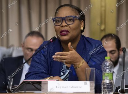 Nobel Peace Prize Laureate, Leymah Gbowee, during the conference Strengthening Womens Participation in Peace Processes: What Roles and Responsibilities for States? at Farnesina Palace in Rome, Italy, 03 December 2019.