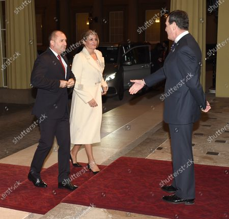 Rumen Radev, President of Bulgaria and Wife Desislava Radeva with Anthony Charles Richards
