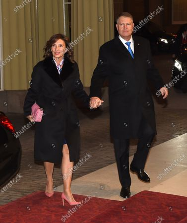Stock Photo of Andrej Plenkovic, Prime Minister of Croatia and Wife Carmen Iohannis