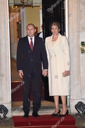 Stock Picture of Bulgarian President Rumen Radev arrives at No 10