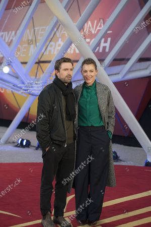 David Michod and his wife Mirrah Foulkes attend the screening of the movie 'Adam' during the 18th edition of the Marrakech International Film Festival, in Marrakech, Morocco, 03 December 2019. The film festival runs from 29 November to 07 December 2019.