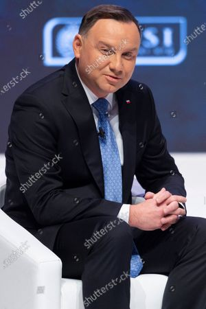 Andrzej Duda, President of Poland makes a keynote speech at the NATO Engages event