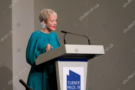 Maria Balshaw, Director of the Tate art museums and galleries, makes a speech before the announcement of the 2019 Turner Prize winners at Dreamland in Margate, Kent, Britain, 03 December 2019. The Turner Prize, which is presented since 1984 to a British-born or based artist aged under 50, is in its 35th year and is considered the highest award for arts in Britain.