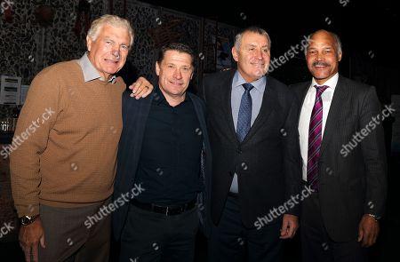 Trevor Brooking, Tony Cottee, Peter Shilton and John Conteh