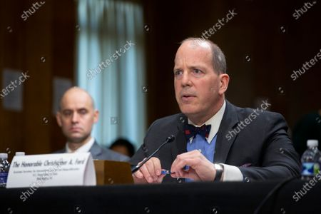 Stock Photo of Christopher Ford, Assistant Secretary for International Security and Nonproliferation, testifies
