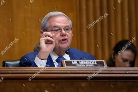 Stock Photo of United States Senator Bob Menendez (Democrat of New Jersey)
