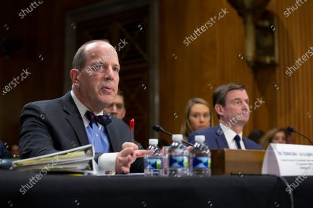 Christopher Ford, Assistant Secretary for International Security and Nonproliferation, alongside David Hale, Under Secretary of State for Political Affairs, testifies