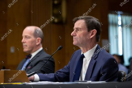 Stock Picture of David Hale, Under Secretary of State for Political Affairs, joined by Christopher Ford, Assistant Secretary for International Security and Nonproliferation, testifies