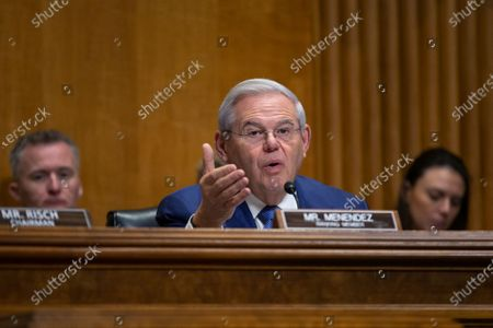 Stock Picture of United States Senator Bob Menendez (Democrat of New Jersey)
