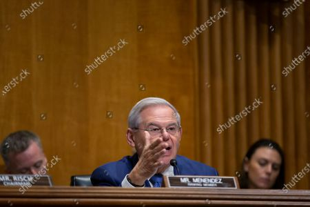Stock Image of United States Senator Bob Menendez (Democrat of New Jersey)
