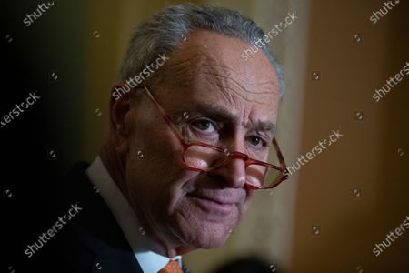Stock Picture of United States Senate Minority Leader Chuck Schumer (Democrat of New York)