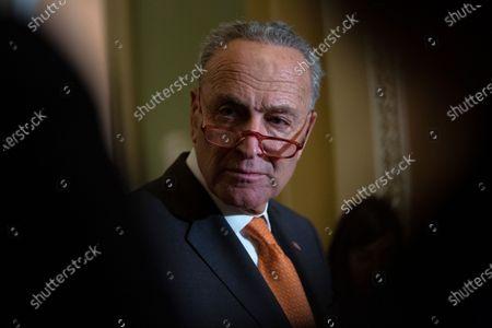Stock Image of United States Senate Minority Leader Chuck Schumer (Democrat of New York)