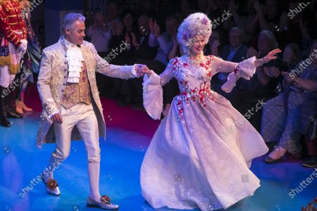 Robert Portal (Percival Brown) and Janie Dee (Madame Dubonnet) during the curtain call