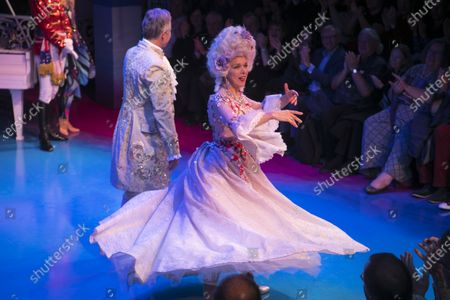 Janie Dee (Madame Dubonnet) during the curtain call