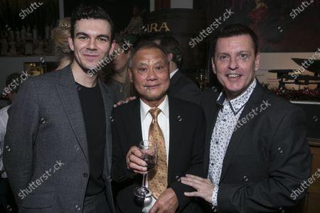Jack Butterworth (Bobby van Husen), Chak Yui and Bill Deamer (Choreographer/Associate Director)