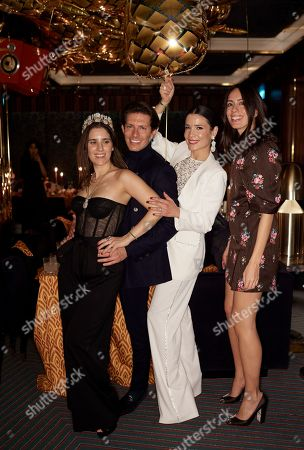 Stock Picture of Begum Khan, Edgardo Osorio, Countess Melissa Faber-Castell and Serra Turker