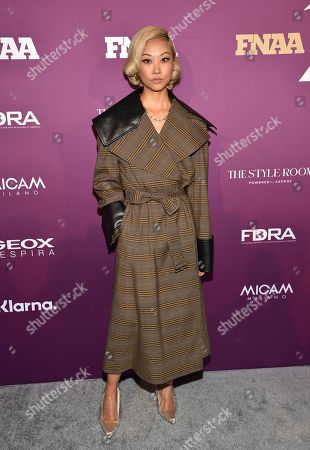 Fashion influencer Vanessa Hong attends the 2019 Footwear News Achievement Awards at the IAC Building, in New York
