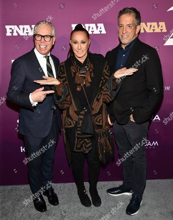 Tommy Hilfiger, Donna Karan, Kenneth Cole. Fashion designers Tommy Hilfiger, from left, Donna Karan and Kenneth Cole attend the 2019 Footwear News Achievement Awards at the IAC Building, in New York