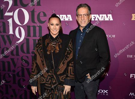 Donna Karan, Kenneth Cole. Fashion designers Donna Karan, left, and Kenneth Cole attend the 2019 Footwear News Achievement Awards at the IAC Building, in New York
