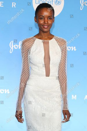 Stock Photo of Flaviana Matata attends the 15th annual UNICEF Snowflake Ball at The Atrium, in New York