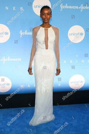 Stock Image of Flaviana Matata attends the 15th annual UNICEF Snowflake Ball at The Atrium, in New York