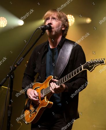 Trey Anastasio of the band Phish performs during an exclusive concert for SiriusXM and Pandora listeners at The Met, in Philadelphia