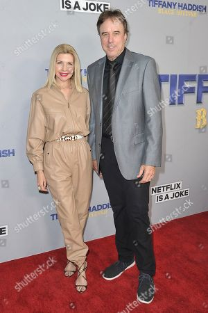 """Susan Yeagley, Kevin Nealon. Susan Yeagley, left, and Kevin Nealon attend Tiffany Haddish's """"Black Mitzvah"""" at the SLS Hotel, in Los Angeles"""