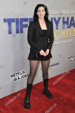"""Stock Image of Sarah Silverman attends Tiffany Haddish's """"Black Mitzvah"""" at the SLS Hotel, in Los Angeles"""