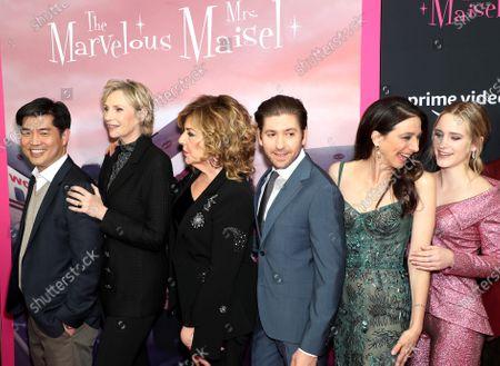 Albert Cheng (COO and Co-Head of TV Amazon Studios), Jane Lynch, Caroline Aaron, Michael Zegen, Marin Hinkle, Rachel Brosnahan