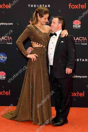 Australian jockey Michelle Payne and brother Stevie arrive at the 2019 Australian Academy of Cinema and Television Arts Awards in Sydney, Australia, 04 December 2019.