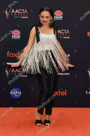 Stock Picture of Miranda Tapsell arrive at the 2019 Australian Academy of Cinema and Television Arts Awards in Sydney, Australia, 04 December 2019.