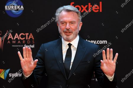 Sam Neill arrive at the 2019 Australian Academy of Cinema and Television Arts Awards in Sydney, Australia, 04 December 2019.