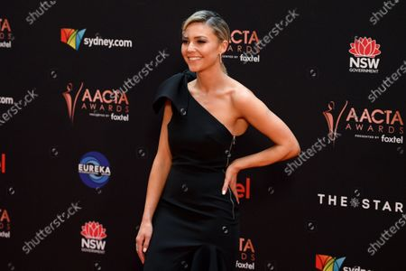 Stock Photo of Sam Frost arrives at the 2019 Australian Academy of Cinema and Television Arts Awards in Sydney, Australia, 04 December 2019.