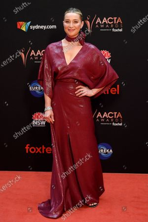 Asher Keddie arrives at the 2019 Australian Academy of Cinema and Television Arts Awards in Sydney, Australia, 04 December 2019.