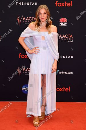 Sophia Forrest arrives at the 2019 Australian Academy of Cinema and Television Arts Awards in Sydney, Australia, 04 December 2019.