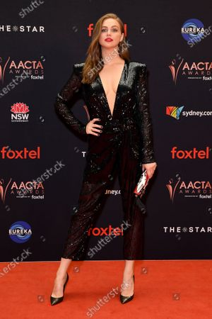 Serbian Australian model and television presenter Ksenija Lukich arrives at the 2019 Australian Academy of Cinema and Television Arts Awards in Sydney, Australia, 04 December 2019.