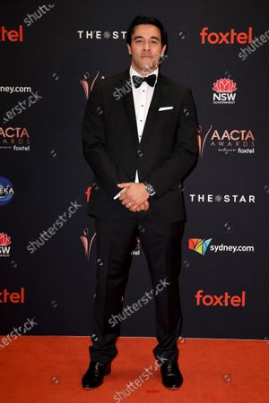 Stock Image of James Stewart arrives at the 2019 Australian Academy of Cinema and Television Arts Awards in Sydney, Australia, 04 December 2019.