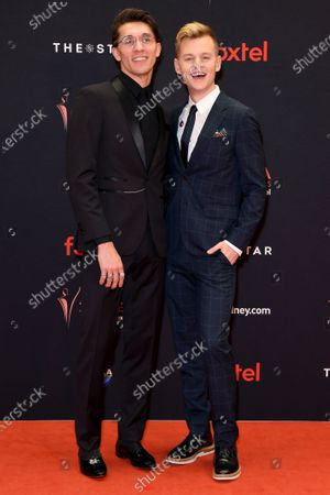 Jack Stratton-Smith and Joel Creasey arrive at the 2019 Australian Academy of Cinema and Television Arts Awards in Sydney, Australia, 04 December 2019.