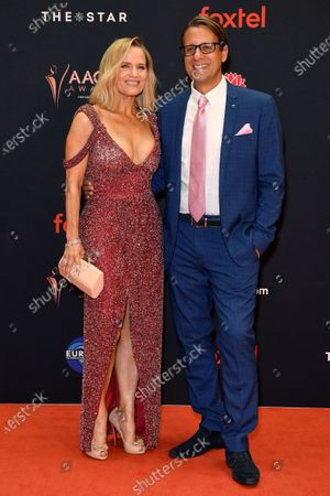 Australian interior designer Shaynna Blaze and Andrew Winter arrive at the 2019 Australian Academy of Cinema and Television Arts Awards in Sydney, Australia, 04 December 2019.
